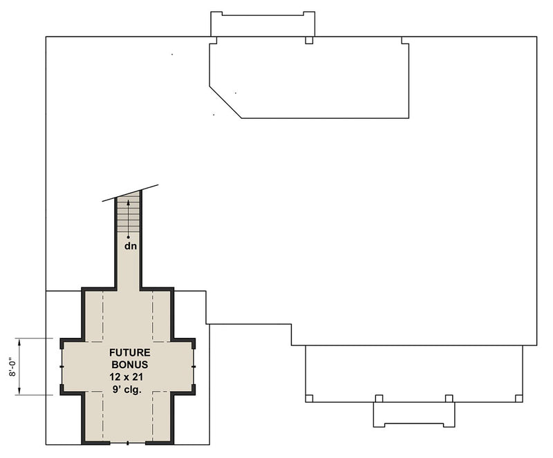 Hidden Hills, second floor plan