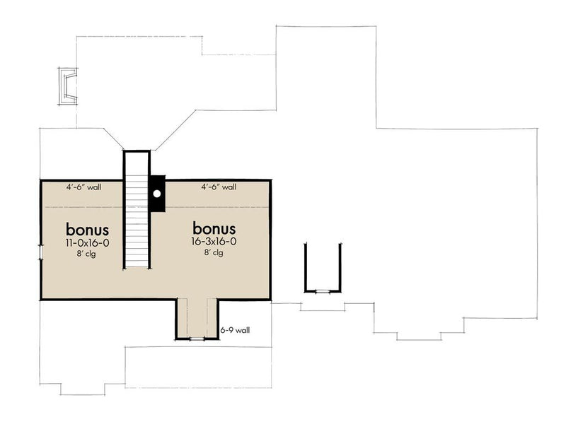Bonus Floor Plan | High Meadow Cabin House Plan