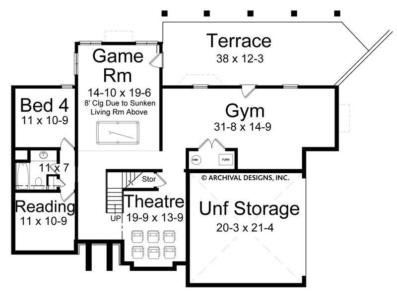 Hillsborough basement floor plan