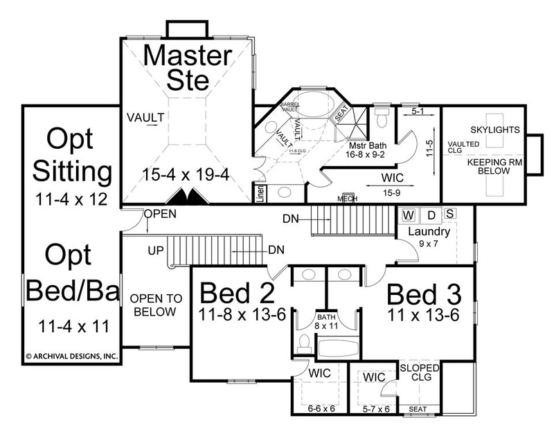 Hillsborough second floor plan