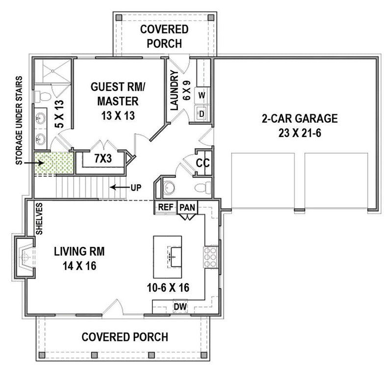 Hillstreet Farm - First Floor Plan w/ Garage