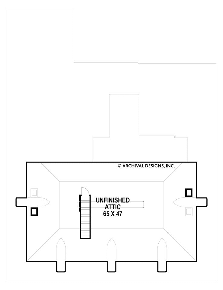 Houmas attic floor plan