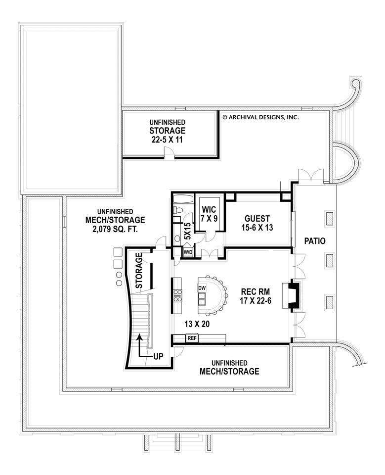 Houmas basement floor plan