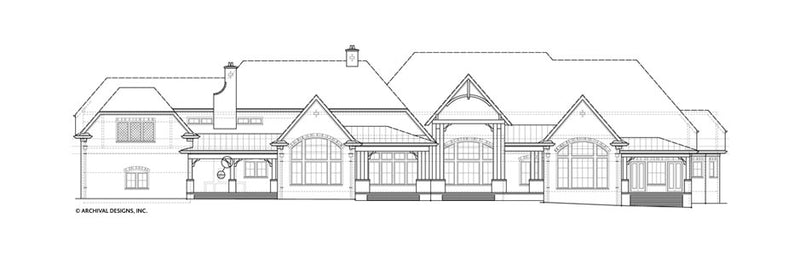 Humber House Plan, Rear Elevation