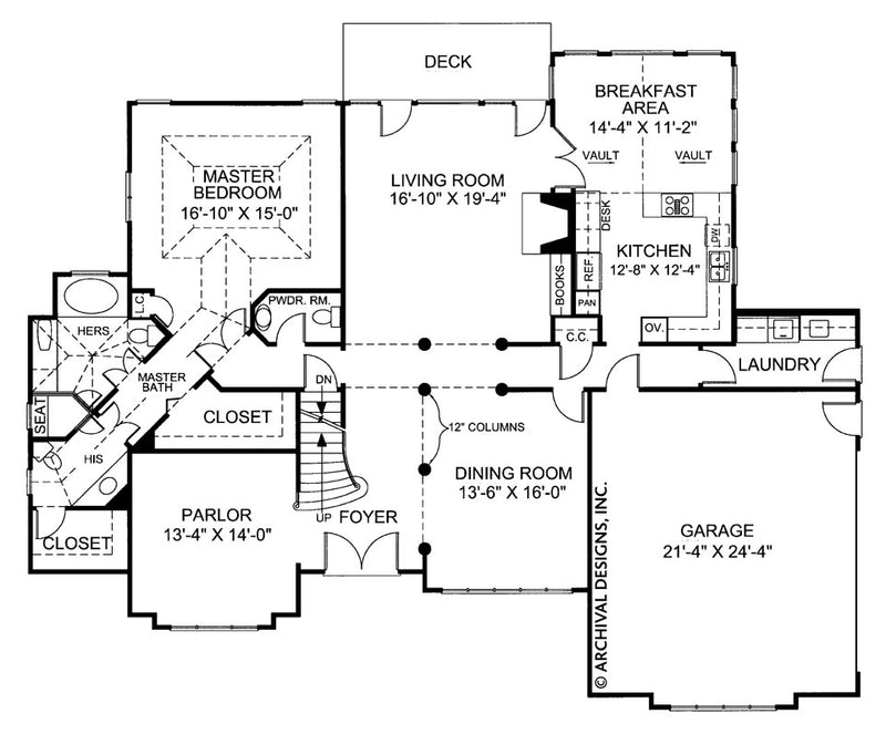 Huntington first floor plan