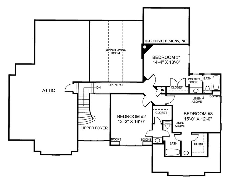 Huntington second floor plan