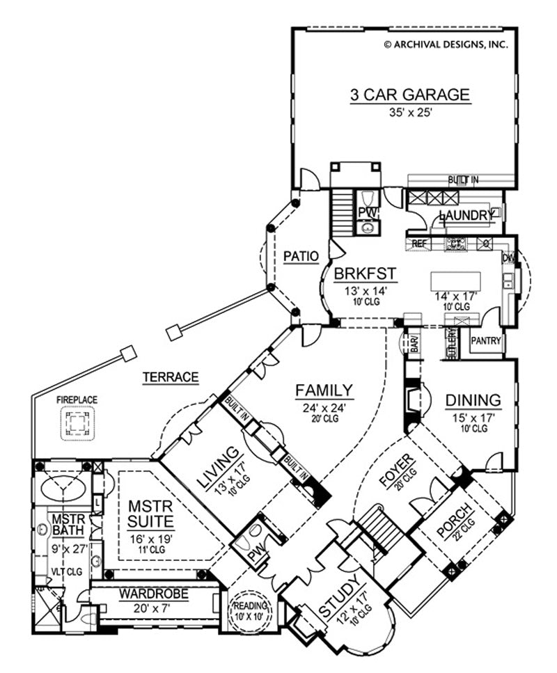 Inverness first floor, floor plan