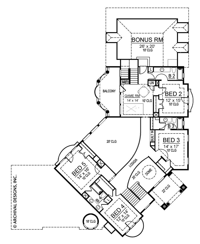 Inverness second floor, floor plan