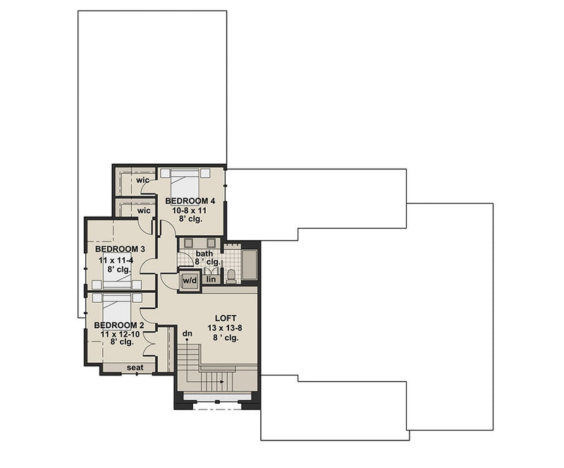 Josie Alice, second floor plan