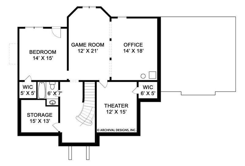 Kelham Hall basement floor plan