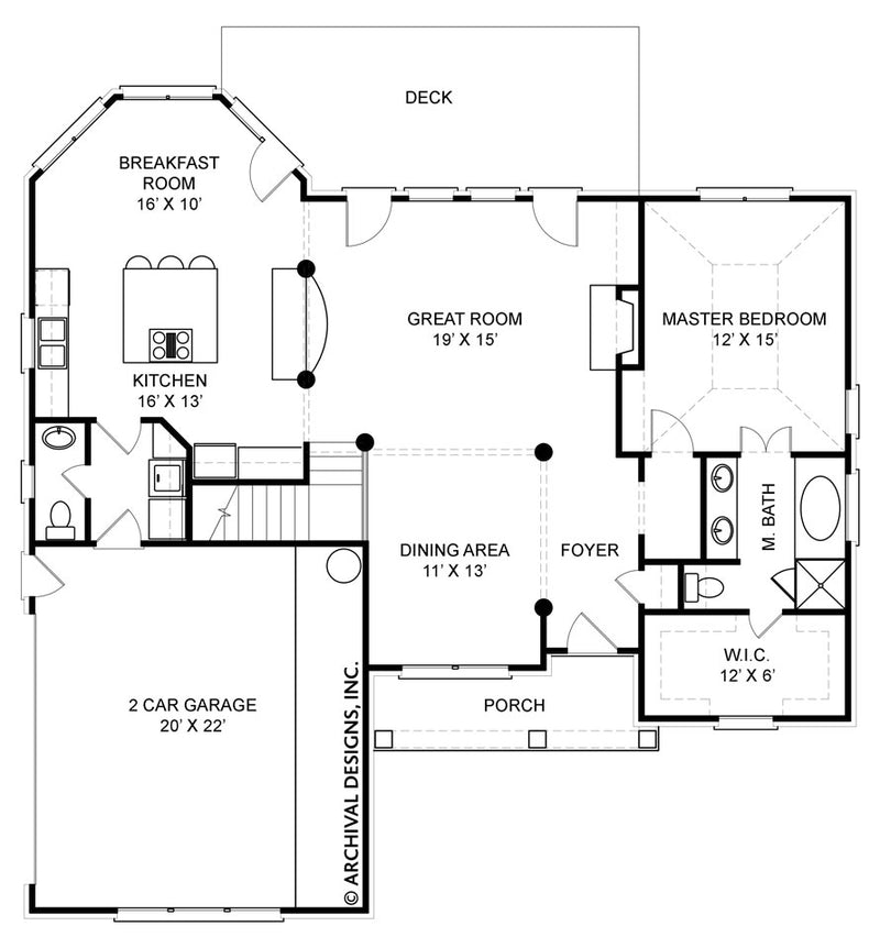 Kenilworth first floor plan