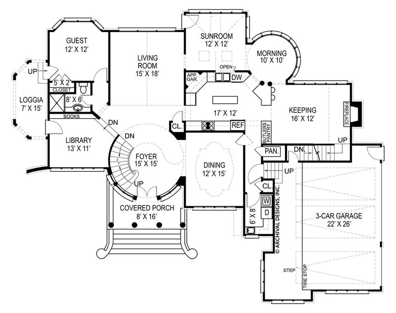 Kildare Castle first floor plan