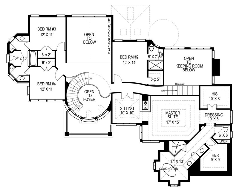 Kildare Castle second floor plan
