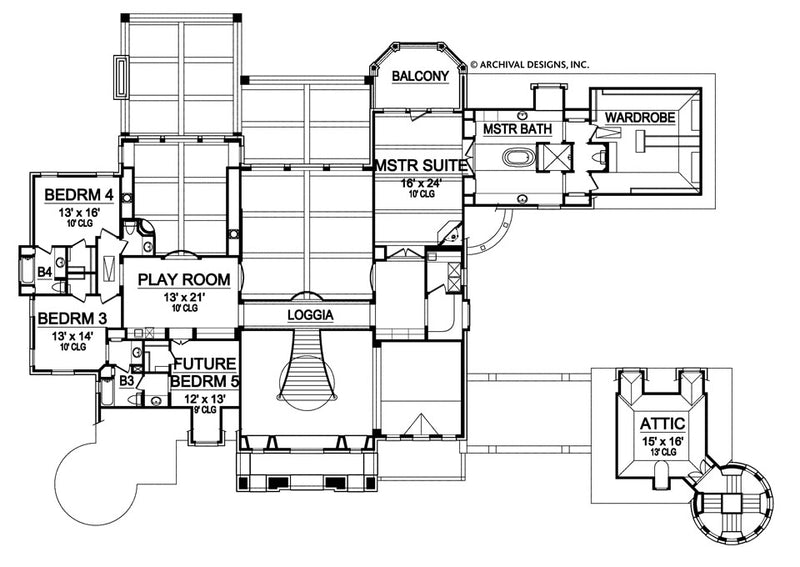 Kingsbridge second floor, floor plan