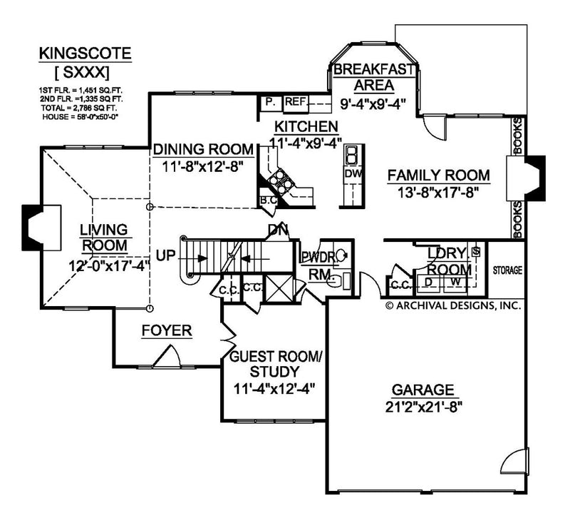 Kingscote first floor plan