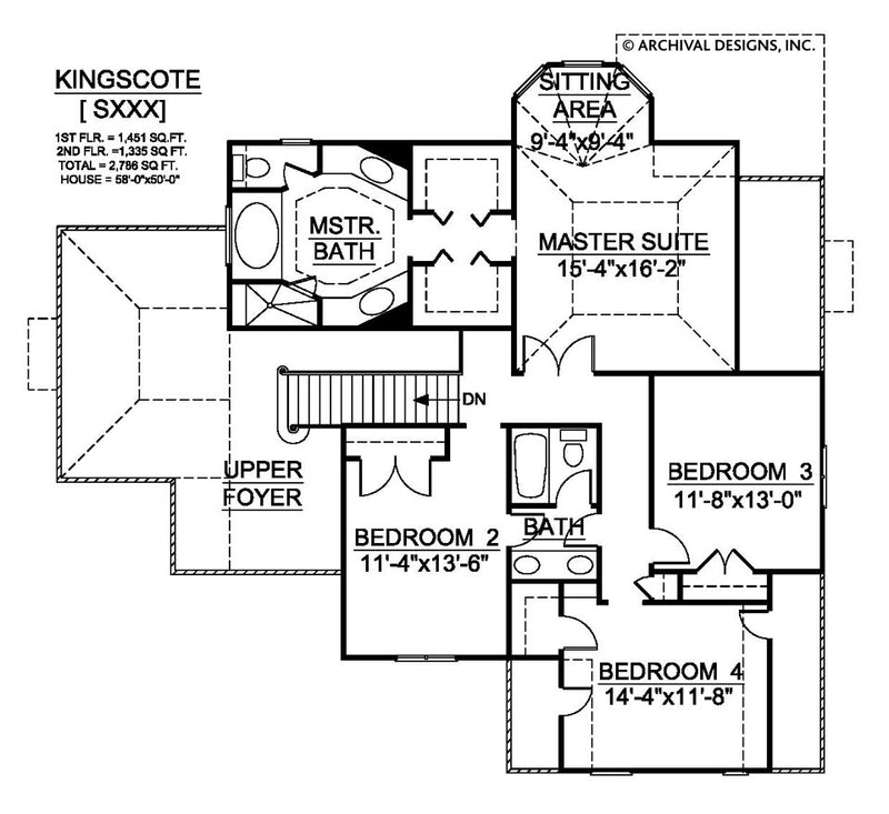 Kingscote second floor plan