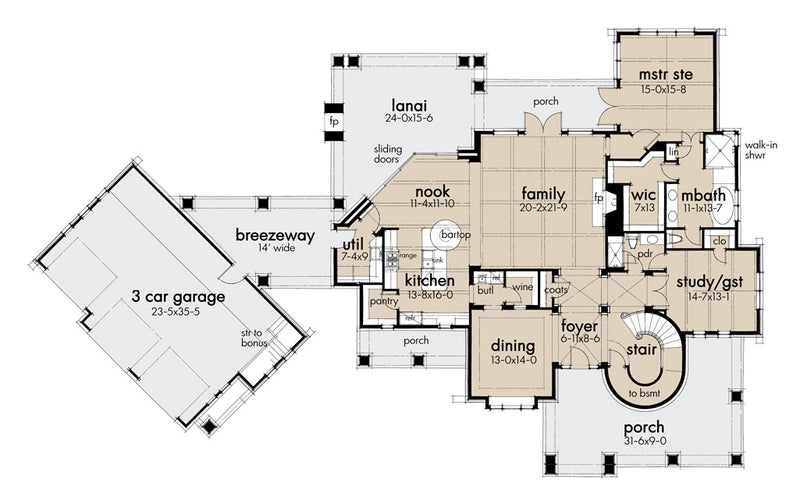 L'Bella Liza Farmhouse - First Floor Plan