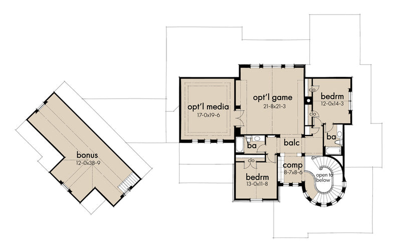 L'Bella Liza Farmhouse - Second Floor Plan