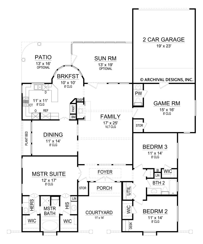 La Hacienda first floor, floor plan