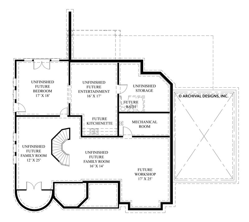 La Vogue basement floor plan