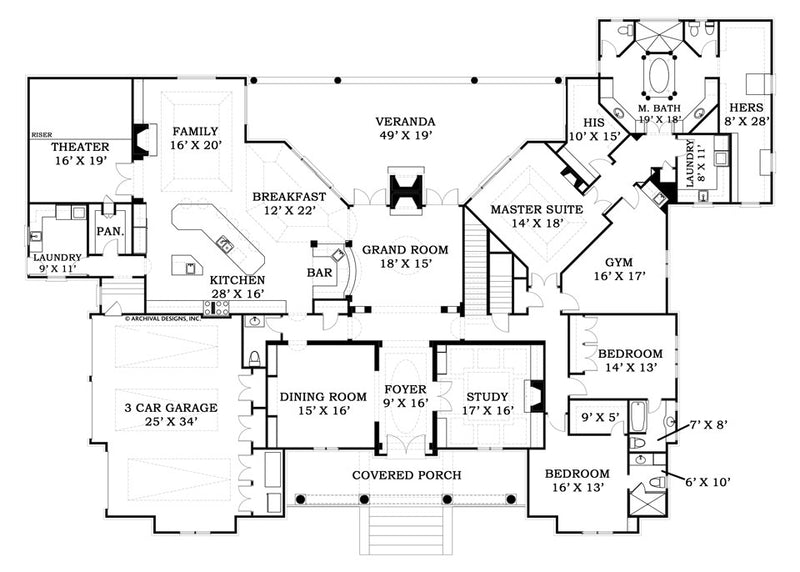 LaCrysta Place first floor plan