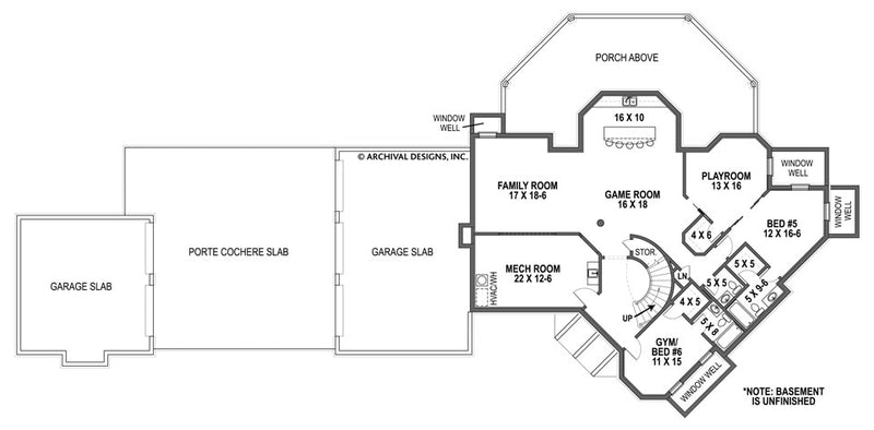 Lady Rose basement floor plan