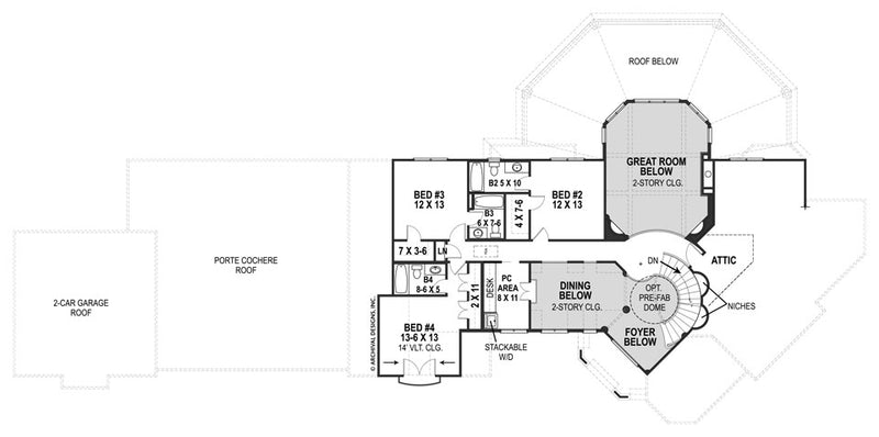Lady Rose second floor plan