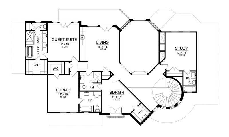 Las Colinas | Second Floor Plan