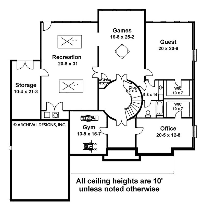 Latrobe basement floor plan