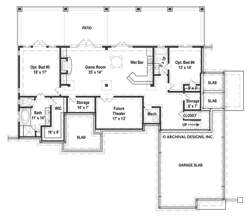 Laurel basement floor plan