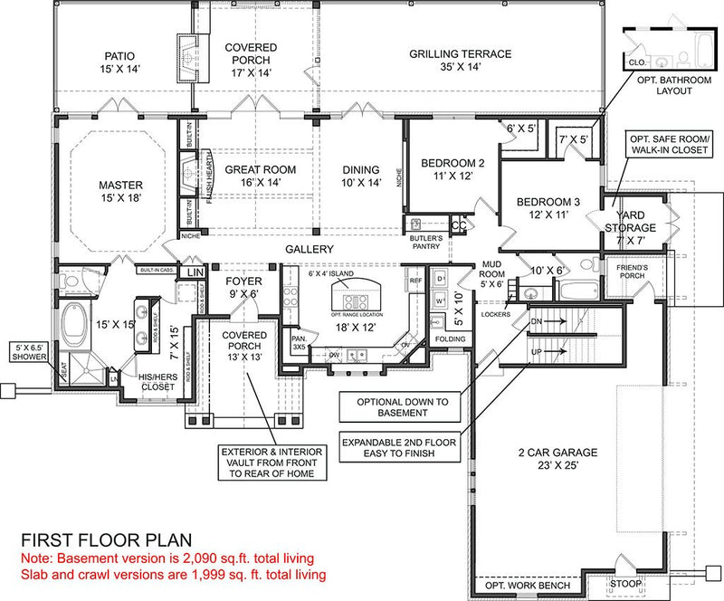 Laurel first floor plan