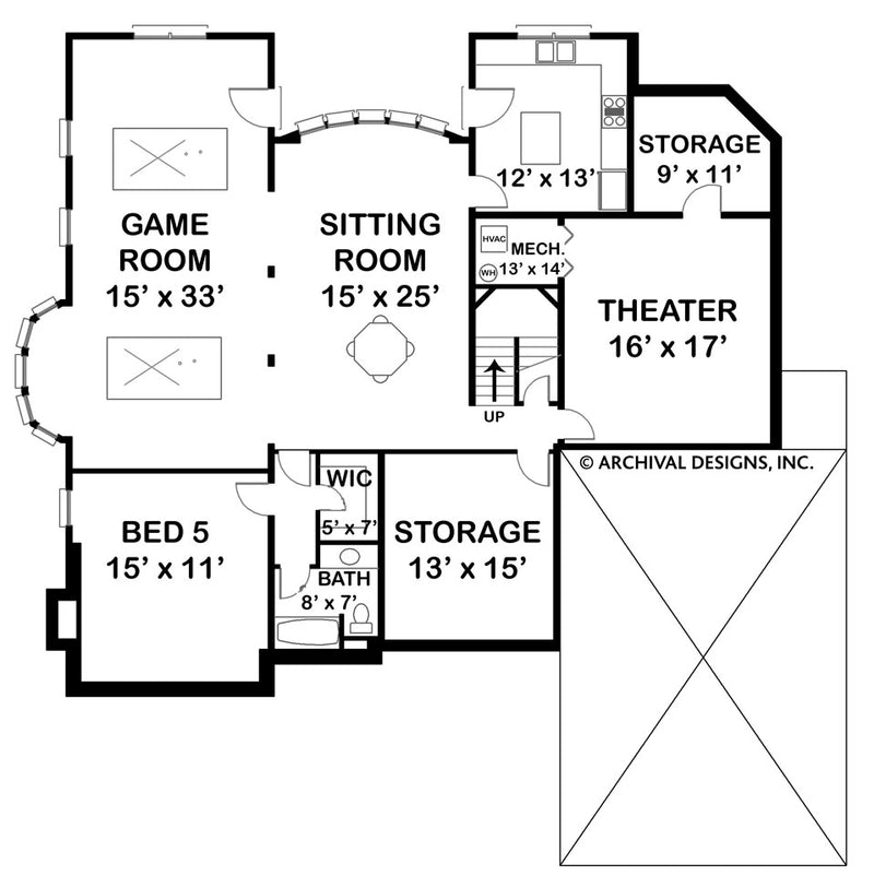 Laurens basement floor plan