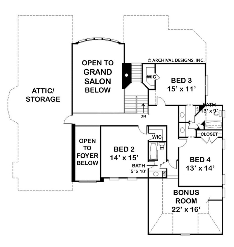 Laurens second floor plan