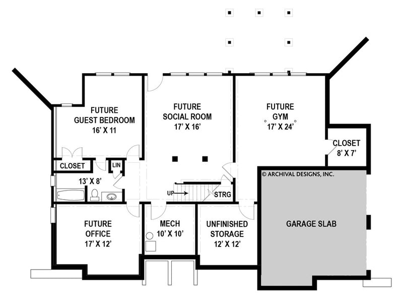 Leland basement floor plan