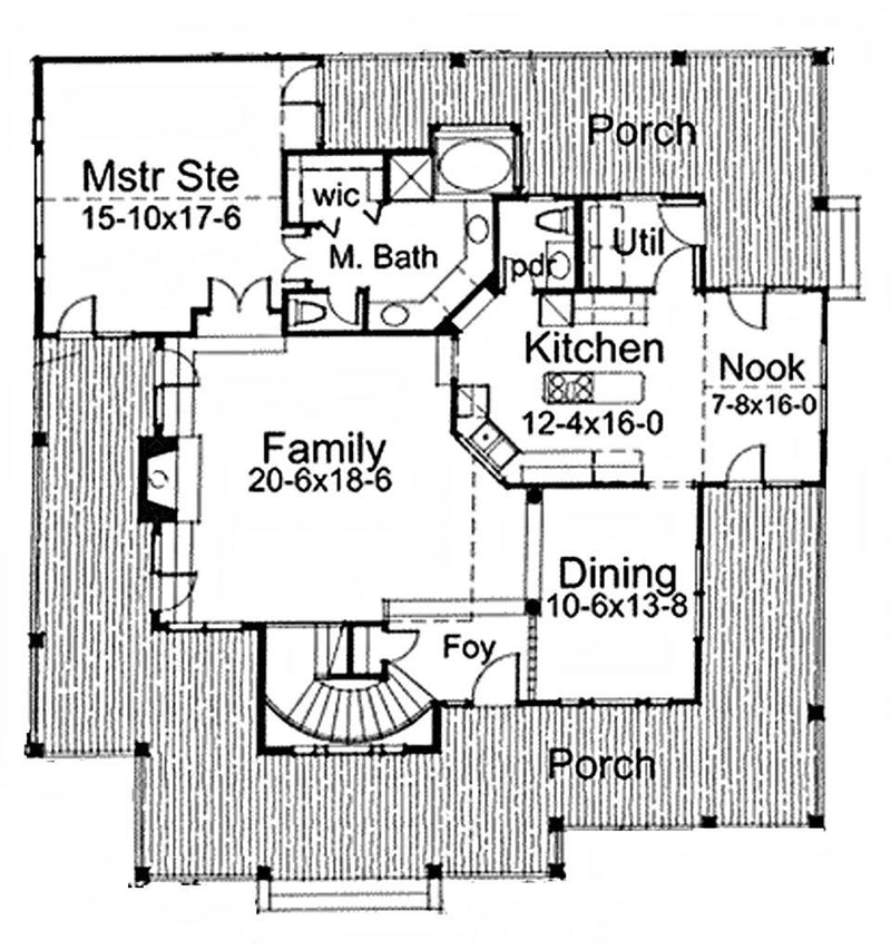 Liberty Hill first floor plan