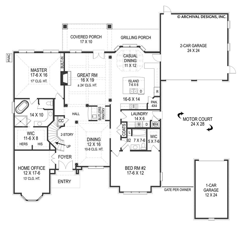 Lily Rose first floor plan