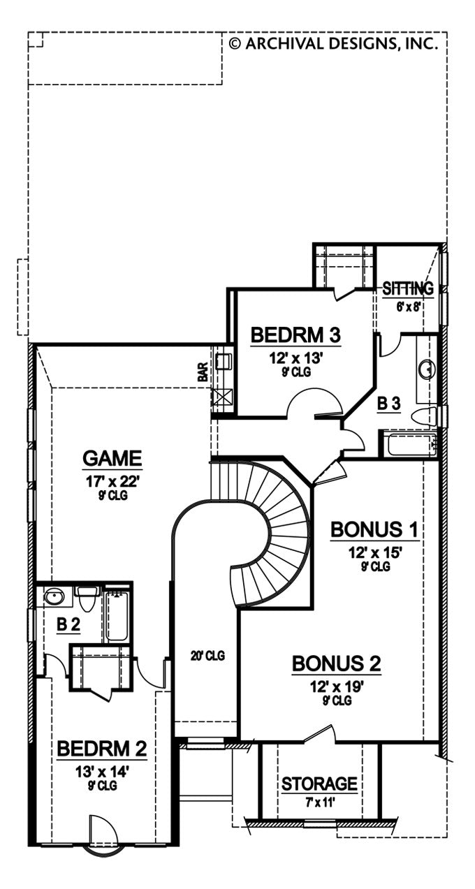 Limestone Ridge second floor, floor plan