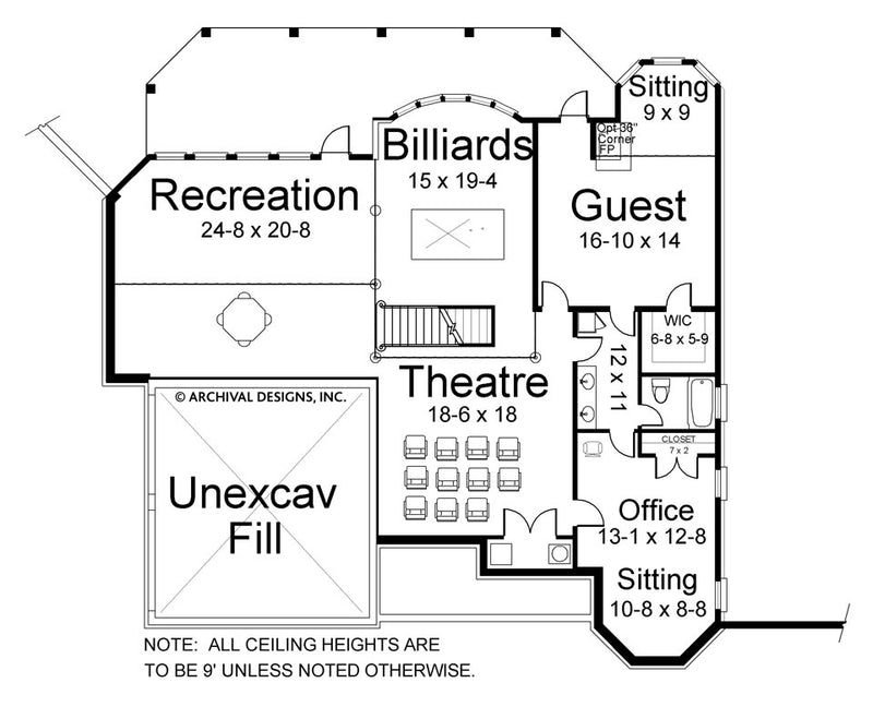 Litchfield basement floor plan