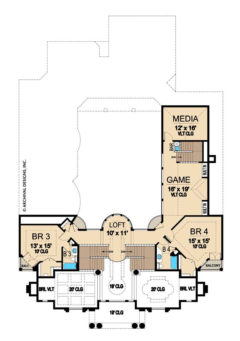 Lochinvar second floor, floor plan