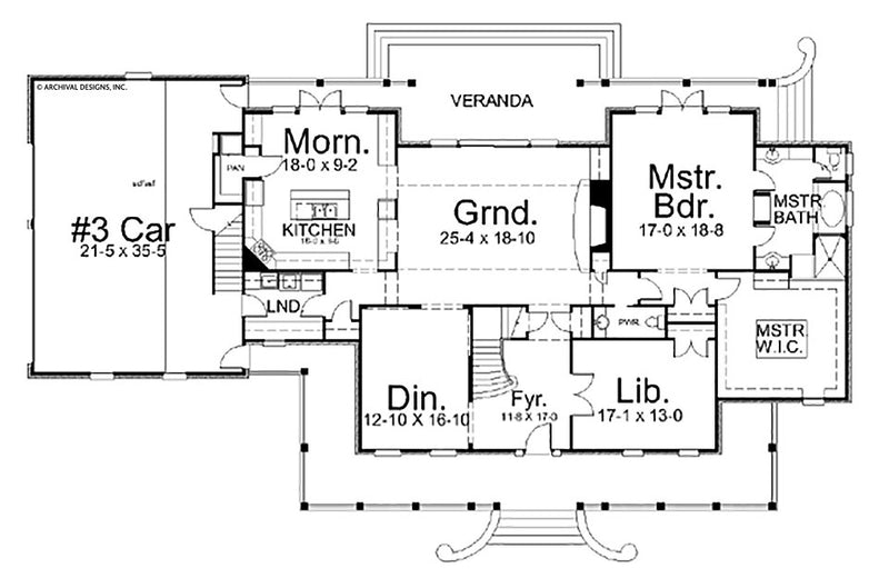 Lodge Park first floor plan