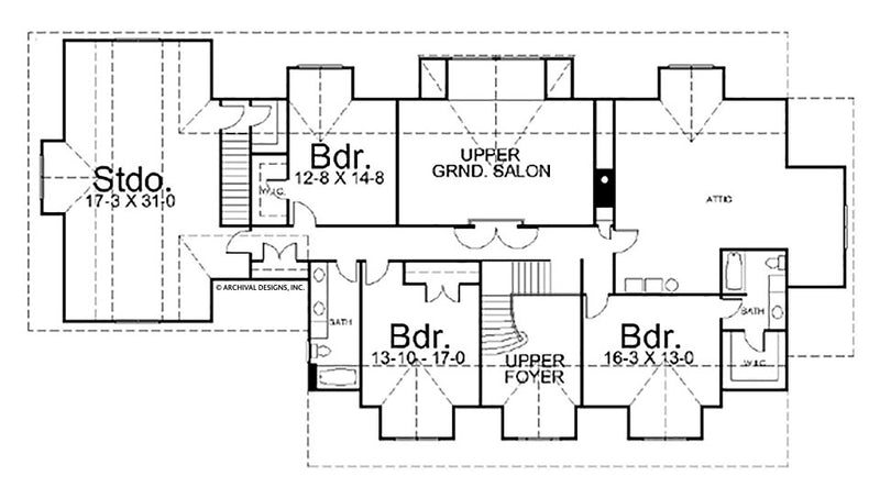 Lodge Park second floor plan