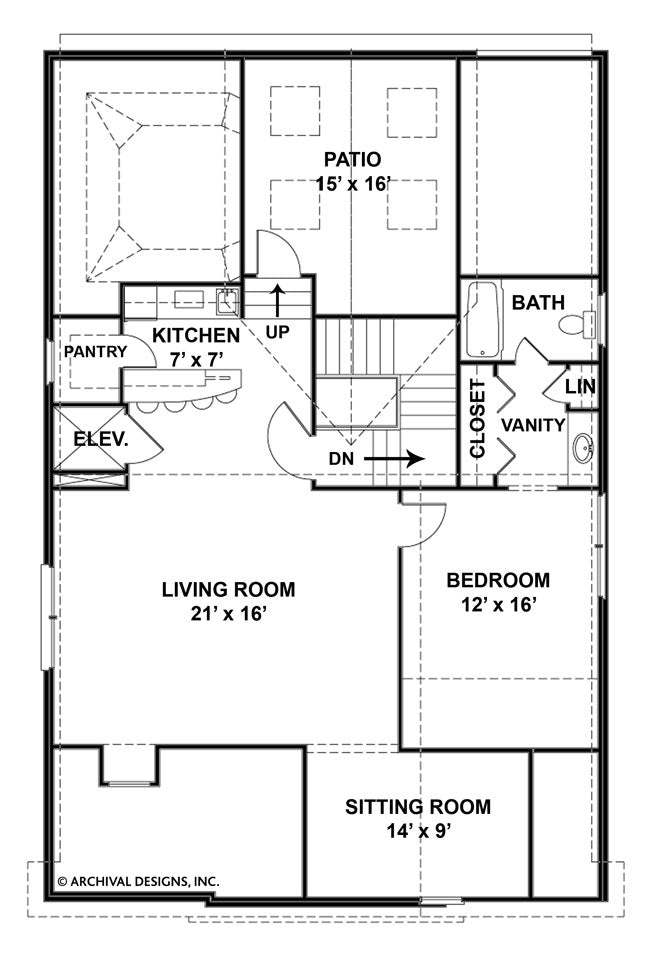 Loretto third floor plan