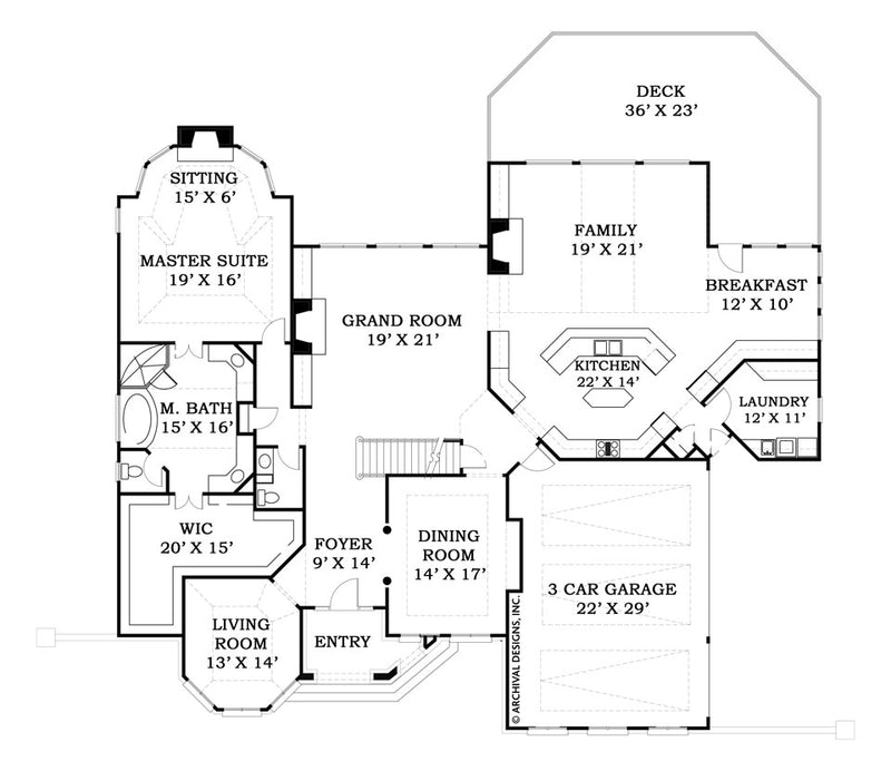 Lounsbury first floor plan