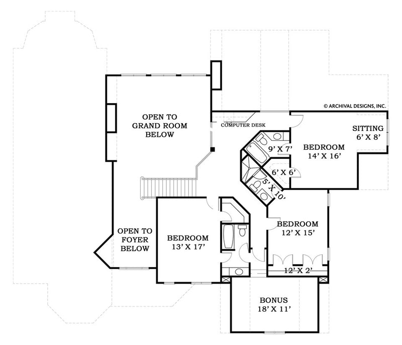 Lounsbury second floor plan