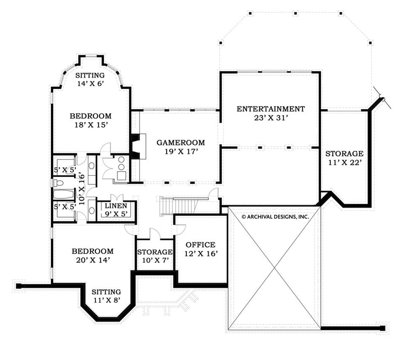 Lounsbury basement floor plan