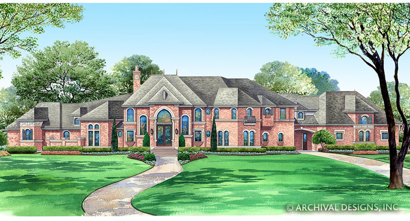 Porte Cochere House Plans | Stock Home Plans | Archival Designs, Inc