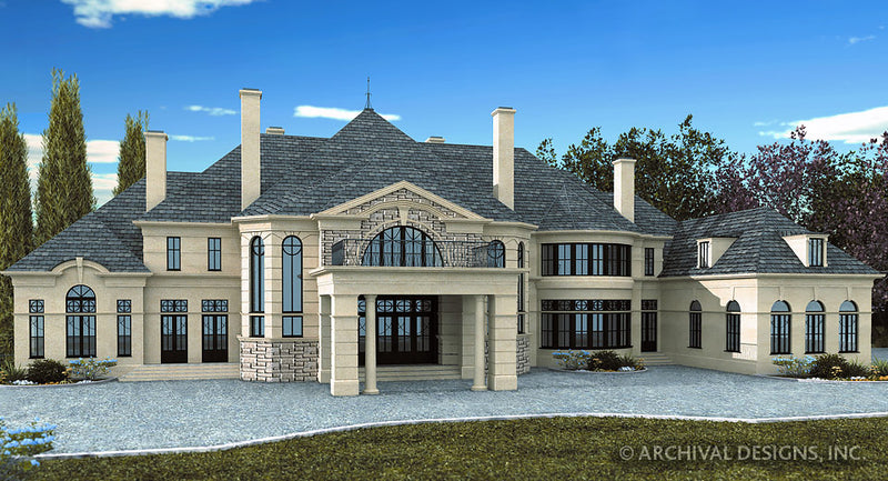 Chateau De Villesarin House Plan
