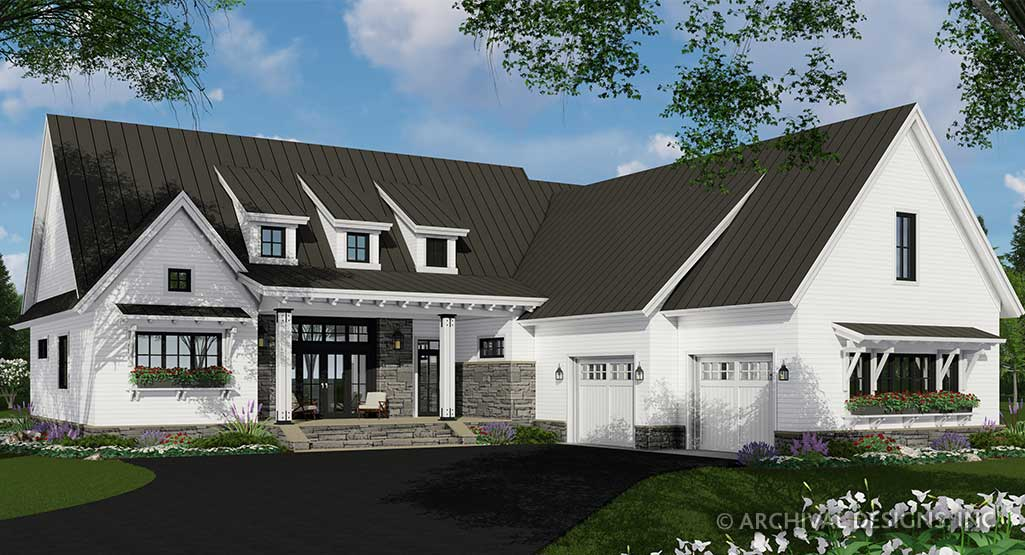Meadowcove House Plan | Modern Farmhouse | One-Story Floor ...