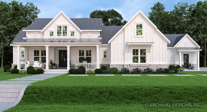 Ranch House Plans | Stock Home Plans | Archival Designs, Inc. on