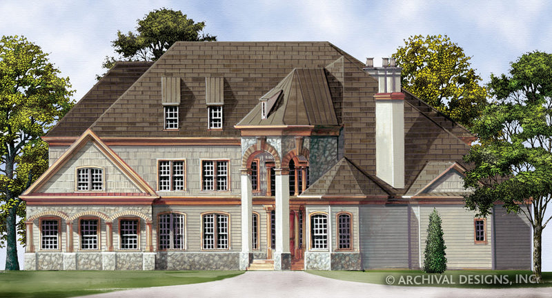 Castle House Plans | Stock House Plans | Archival Designs, Inc. on